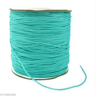 Cordon Shamballa 1,5 mm - Bleu turquoise au mètre (sur mesure)