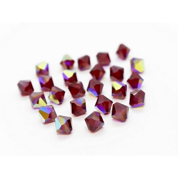 lot 100 perle ancienne ronde à facette Cristal noir 7 mm promo 3,50 €