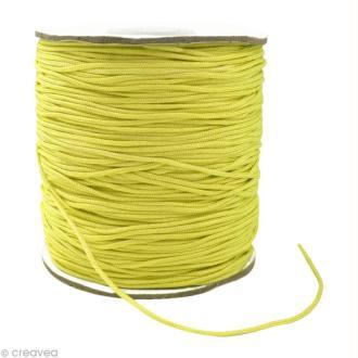 Cordon Shamballa 1 mm - Jaune citron au mètre (sur mesure)