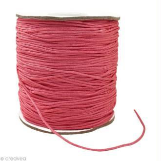 Cordon Shamballa 1 mm - Rose au mètre (sur mesure)