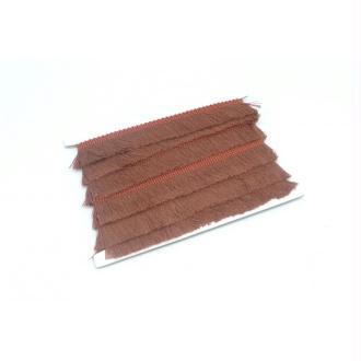 50cm De Galon Frange De Couleur Marron Feuille Morte Rosé En Polyester Et Coton