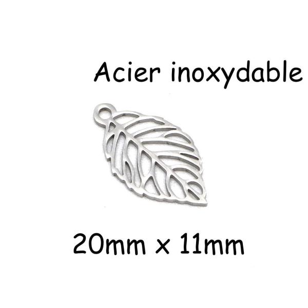 /épaisseur 3mm 40 Pendentifs Plume Breloques R/êve Cr/éatif m/étal argent/é 19mm x4mm
