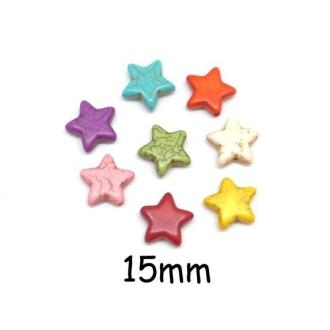 8 Perles étoile En Pierre Naturelle Imitation Turquoise