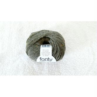 Laine à tricoter Fonty. Supertweed kaki