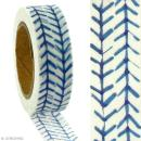 Masking tape Flèches bleues sur fond blanc - 1,5 cm x 5 m - Photo n°2