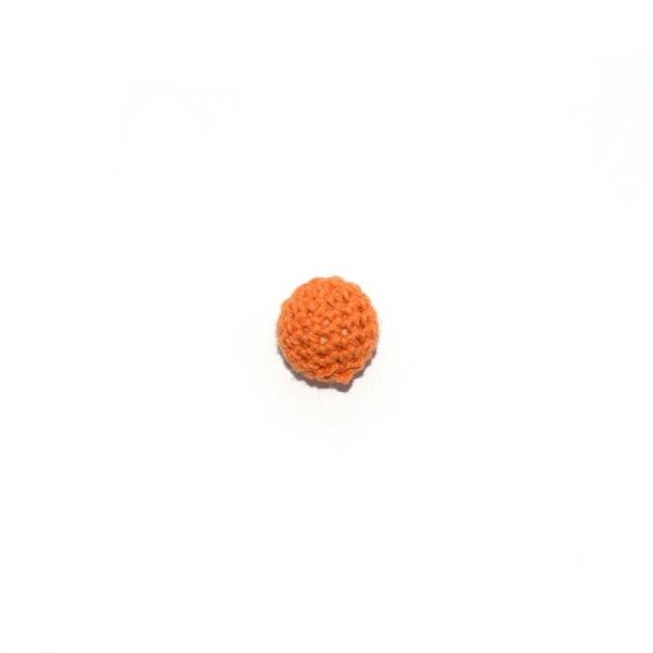 Perle crochet 16 mm orange - Photo n°1