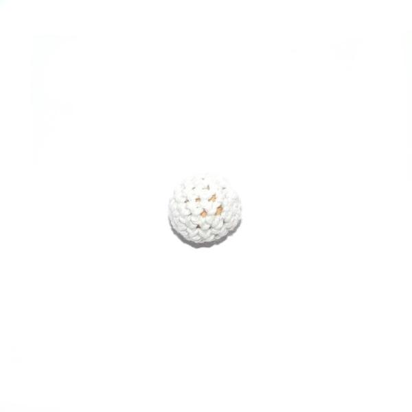Perle crochet 16 mm blanc - Photo n°1