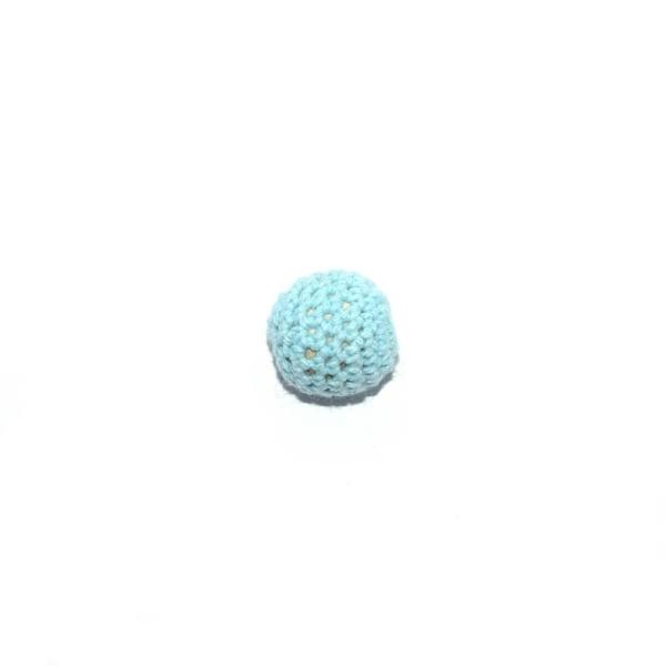 Perle crochet 16 mm bleu clair - Photo n°1