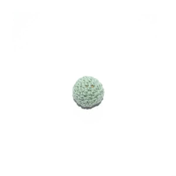 Perle crochet 16 mm vert menthe - Photo n°1