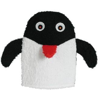 Gant toilette pingouin en coton
