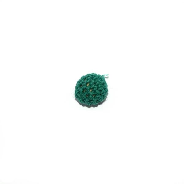 Perle crochet 16 mm vert foncé - Photo n°1