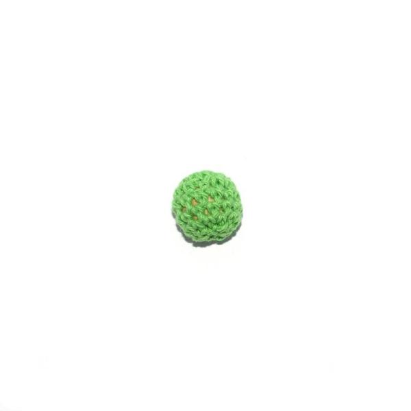 Perle crochet 16 mm vert pomme - Photo n°1
