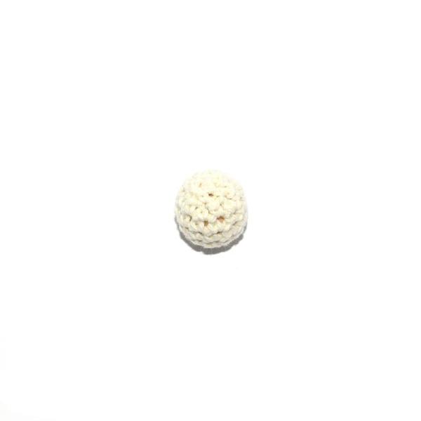 Perle crochet 16 mm beige - Photo n°1