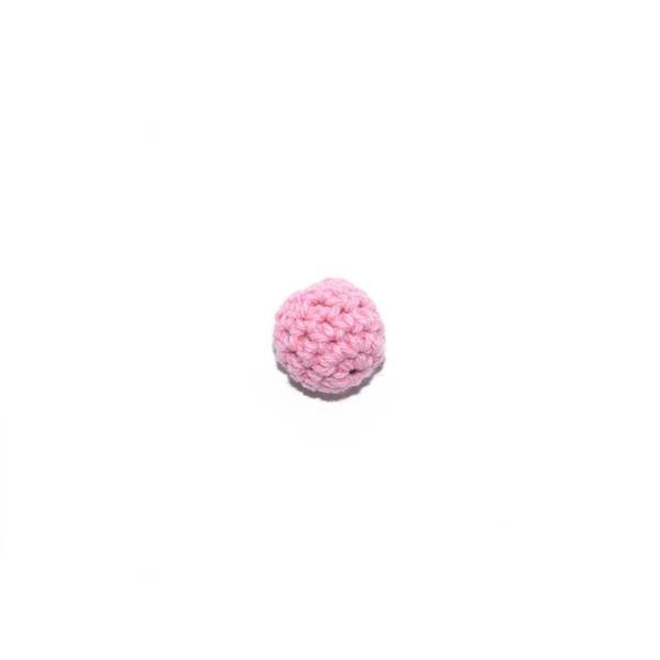 Perle crochet 16 mm rose clair - Photo n°1