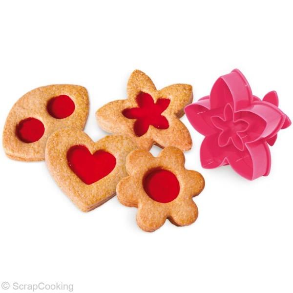 Découpoir biscuits à la confiture - 4 découpoirs éjecteurs - Photo n°2