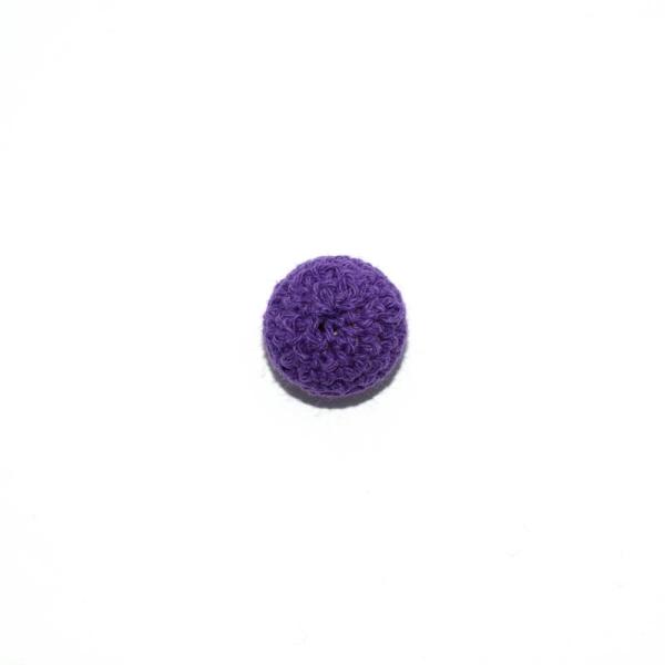 Perle crochet 20 mm violet - Photo n°1