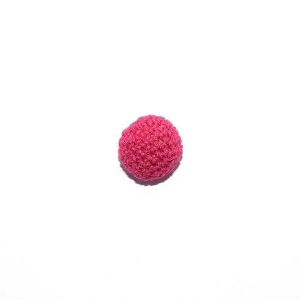 Perle crochet 20 mm fuchsia - Photo n°1