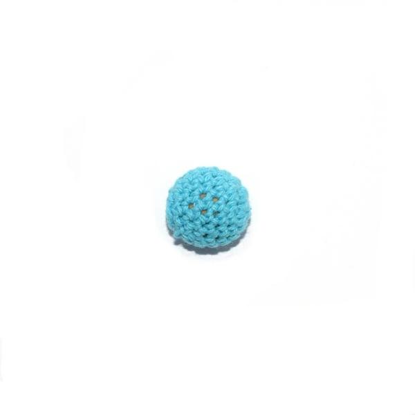 Perle crochet 20 mm turquoise - Photo n°1