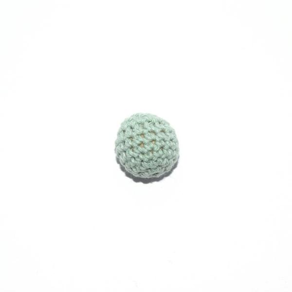 Perle crochet 20 mm vert menthe - Photo n°1