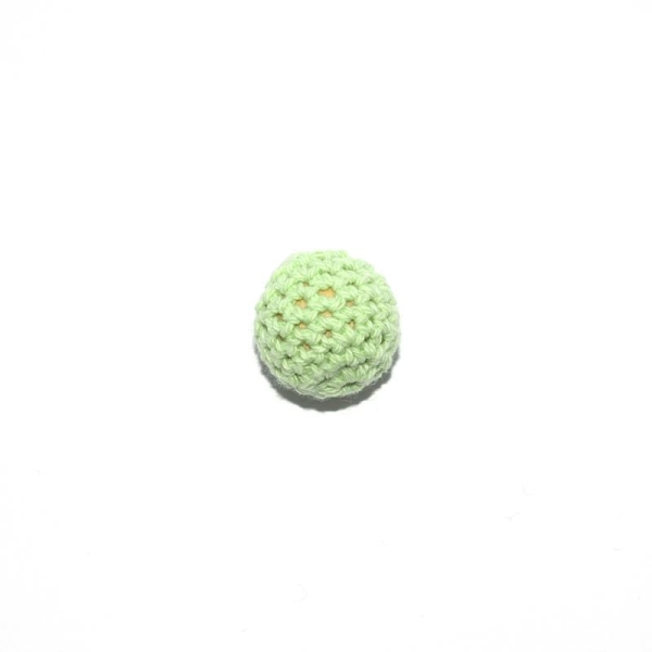 Perle crochet 20 mm vert clair - Photo n°1