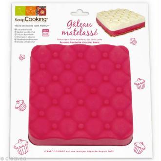 Moule silicone Gâteau matelassé - 1 moule 16 x 16 x 4 cm