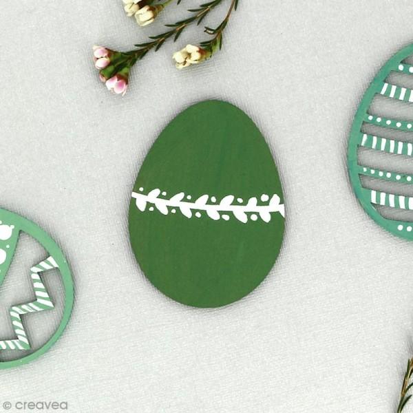 Grand oeuf de Pâques en bois à décorer - 12 cm - Photo n°3