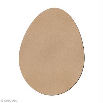 Grand oeuf de Pâques en bois à décorer - 12 cm