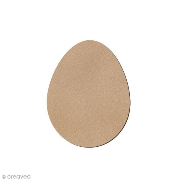 Petit oeuf de Pâques en bois à décorer - 7 cm - Photo n°1