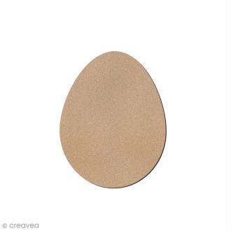 Petit oeuf de Pâques en bois à décorer - 7 cm