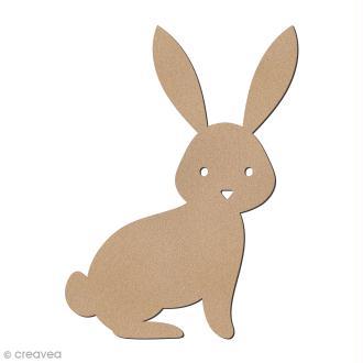 Lapin de Pâques assis en bois à décorer - 8 cm
