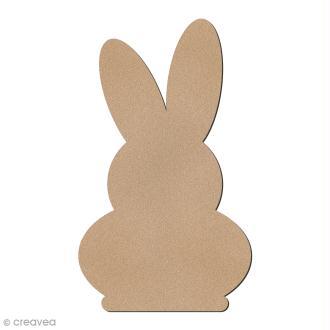 Silhouette lapin de Pâques en bois à décorer - 8 cm