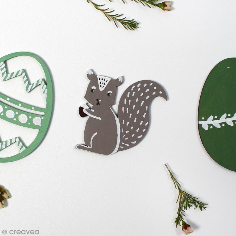 Ecureuil en bois à décorer - 6 cm - Photo n°2