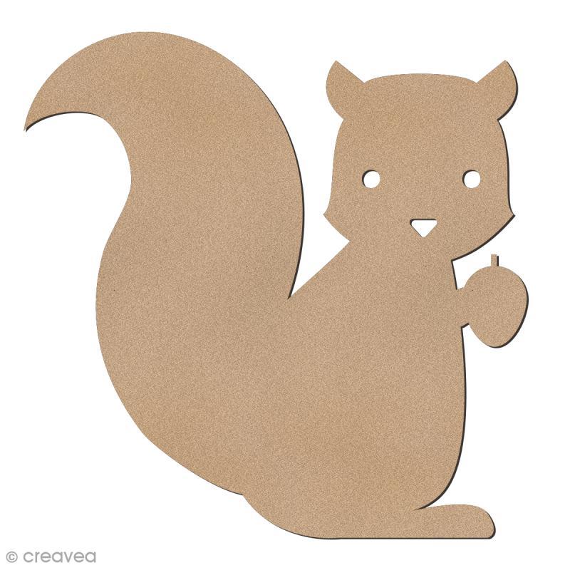 Ecureuil en bois à décorer - 6 cm - Photo n°1