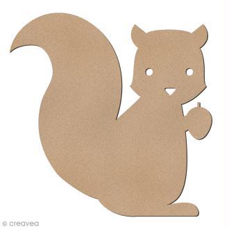 Ecureuil en bois à décorer - 6 cm