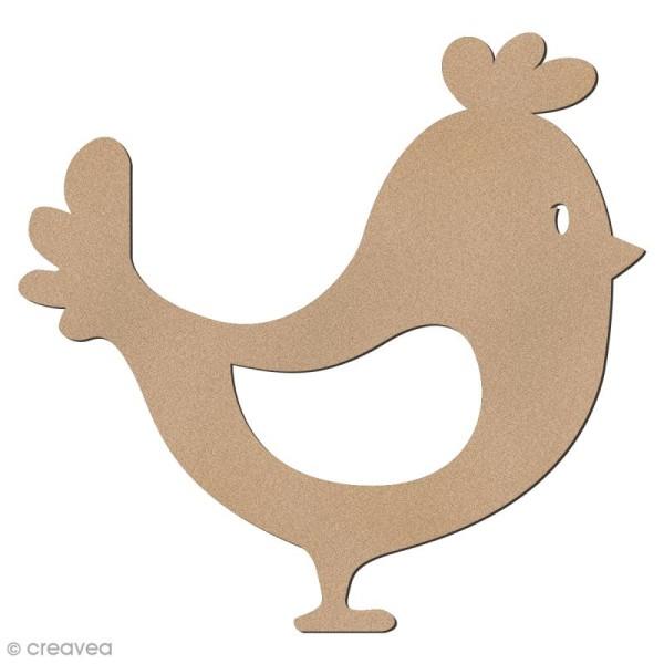 Poulette en bois à décorer - 6 cm - Photo n°1