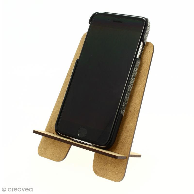 kit support pour t l phone portable en bois d corer 2 pcs formes en bois creavea. Black Bedroom Furniture Sets. Home Design Ideas