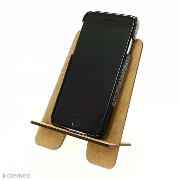Kit support pour téléphone portable en bois à décorer - Photo n°3