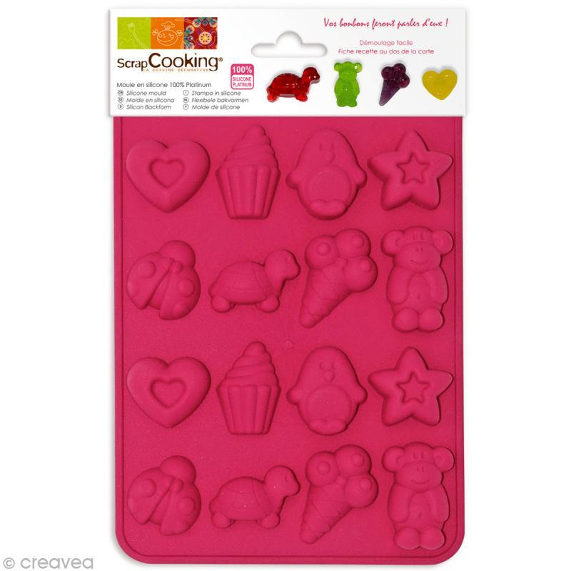 Moule silicone Bonbons - 16 moules 20,5 x 14,5 x 1,4 cm - Photo n°1