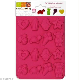 Moule silicone Bonbons - 16 moules 20,5 x 14,5 x 1,4 cm