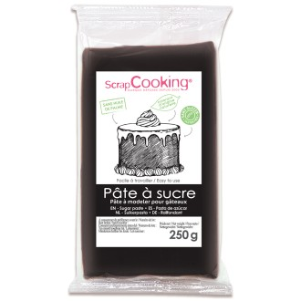 Pâte à sucre Noire 250 g - Goût vanille