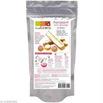 Fondant pour glaçage Blanc Vanille - Préparation 500 g