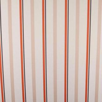 Tissu eden rayure - Beige, rouille & charbon- Par 50cm