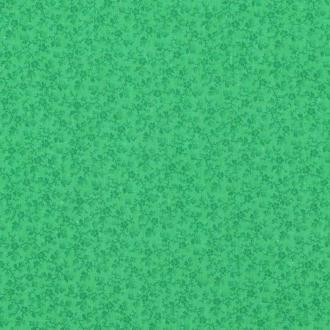 Tissu coton fleuri printemps - Vert classique- Par 50cm