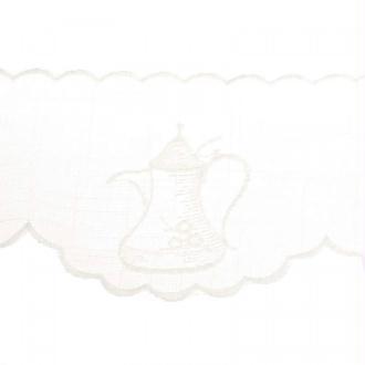 Broderie cafetière - Beige
