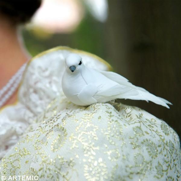 Oiseau blanc sur pince x 2 - Photo n°2