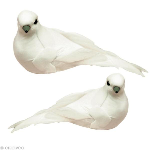 Oiseau blanc sur pince x 2 - Photo n°1