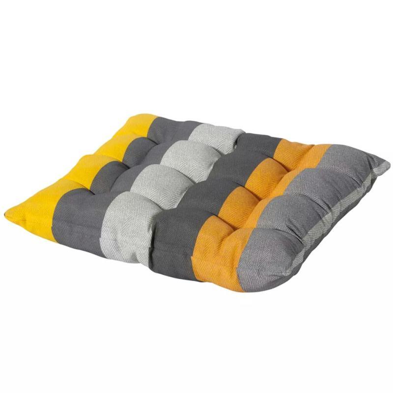 Madison coussin de si ge victoria 46 x 46 cm jaune - Coussins pour fauteuil de jardin ...