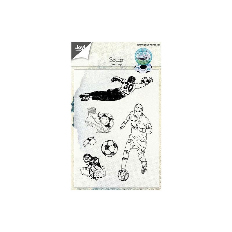 Tampon clear Joy Crafts - Joueur de football - Photo n°1