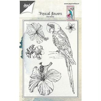 Tampon clear Joy Crafts - Tropical flowers