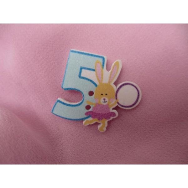 4 x petit lapin rose lapins 15mm plastique acrylique boutons